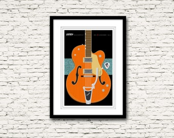 Guitars Signature Series Poster 10 Gretsch G6120 Nashville  Stray Cats