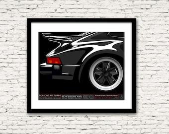 Drive Signature Series Poster 1 Porsche 911 Turbo
