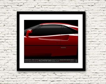 Drive Signature Series Poster 3 Ferrari 288 GTO