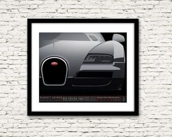 Drive Signature Series Poster 10 Bugatti Veyron