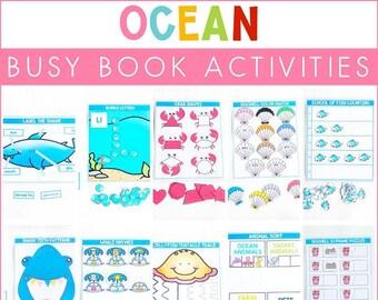Under the Sea Theme Ocean Themed Busy Binder Sea Ocean Activities Preschool Activities Activity Binder Ocean Busy Book Homeschool