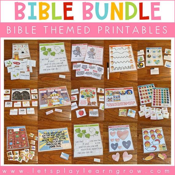 Bible Themed Printables Bundle  Bible Busy Binder  Bible