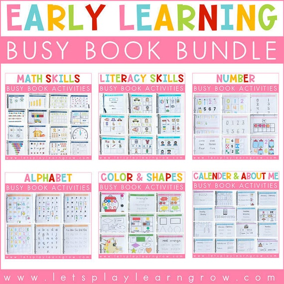 Early Learning Busy Binder Bundle Busy Book Bundle Activity