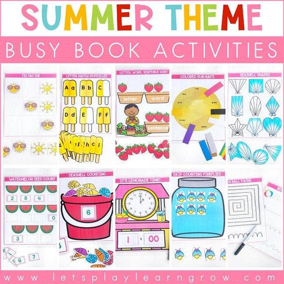 Summer Themed Busy Binder Activity Binder Homeschool
