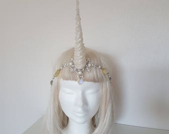 Crystal white Unicorn jewelry headpiece