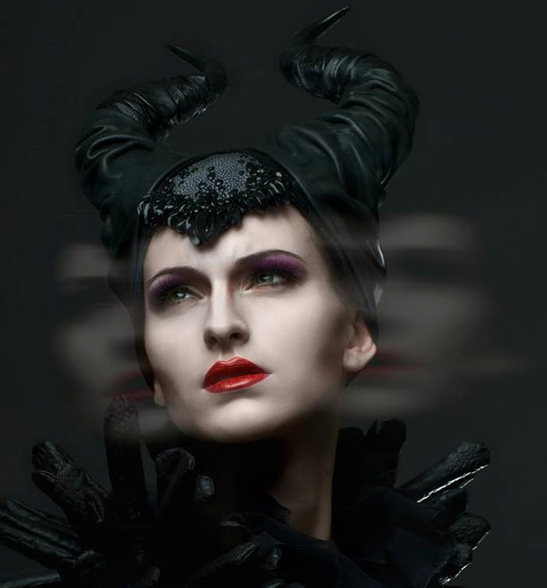 Maleficent Crown Movie Inspired Headpiece Made To Order Black