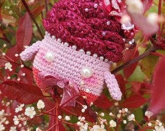 Rose button Amigurumi plush