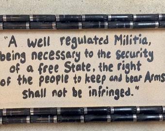 Shotgun Shell Second Amendment Sign
