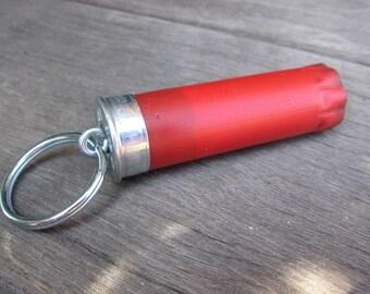 Shotgun Shell Keychain Red