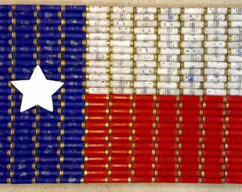 Shotgun Shell Texas Flag Wall Decor