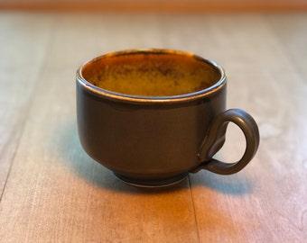 Black Matte and Gold Teacup