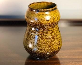 Golden Curved Vase