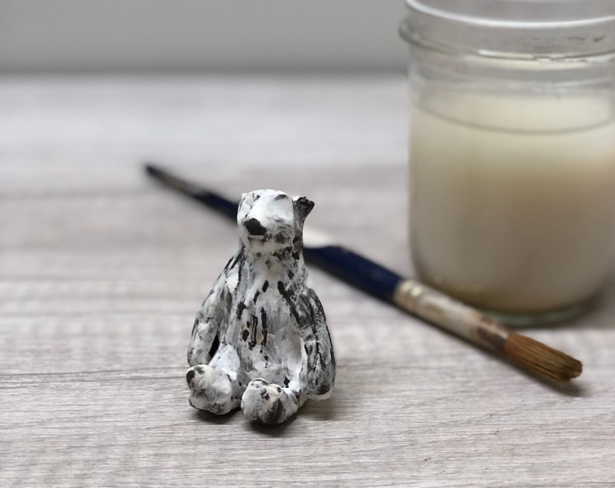 Featured listing image: Little Sitting Polar Bear 2in Tall