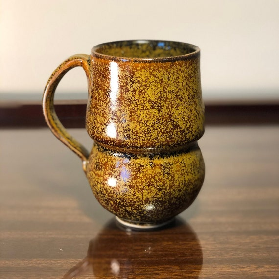 Golden Curved Mug 16oz Version 2