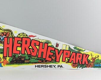 Vintage Hershey Park, Pennsylvania, USA felt pennant - Vintage pennant - Retro pennant - Vintage souvenir flag - Souvenir pennant