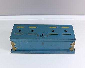 Vintage Home Budget Bank by Tudor Metal - Retro metal budget bank - Antique Office Supplies
