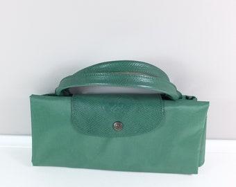 Vintage Roland Garros Le Pliage Longchamps XL bag - made in France - Retro overnight bag - Vintage travel bag - Roland Garros fan