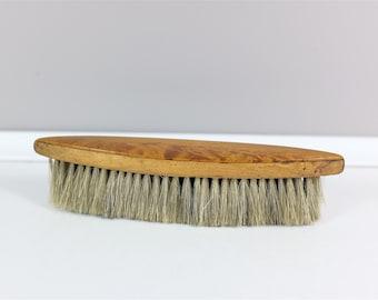 Vintage clothing brush from Paris France - retro wooden brush - Old clothing brush