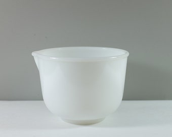 White Milk Glass Glasbake for Sunbeam mixing bowl - Vintage small white bowl - Replacement part Glasbake mixing bowl for Sunbeam mixer