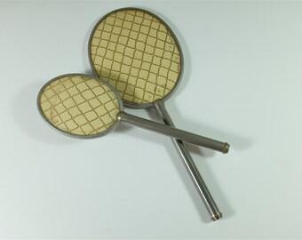 Vintage Mirror and Brush Set / Vintage Vanity Set / Antique mirror and brush