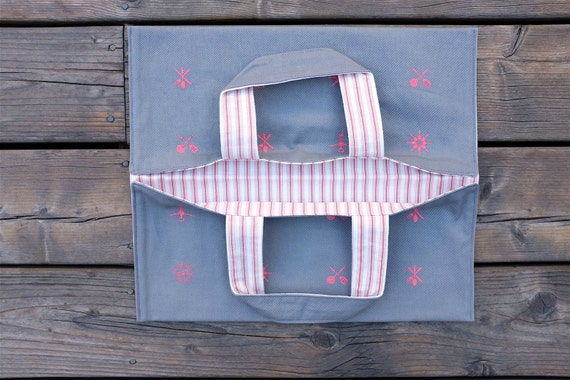 Dish Bag Pie Bag Quebec Hand Made in Montreal Canada Casserole Carrier Pie Carrier
