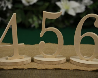 ON SALE - Table Numbers- Wedding Table Numbers- Wood Table Number- Weddings / Decor - Table Numbers- Table Number \ 1 to 25set \