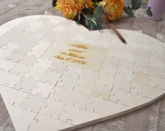 Heart Puzzle Wedding Guest Book Sign - Wooden Puzzle - Wedding Puzzle - Guest Book Alternative