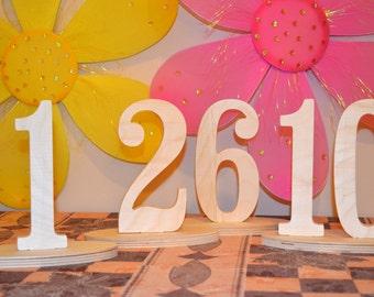 1-10 DIY Wood Table numbers