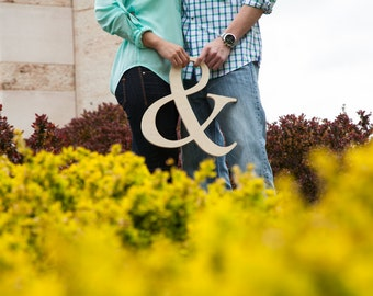 Ampersand Photo Prop Wooden Wedding Sign for Photos - Custom made- Unpainted