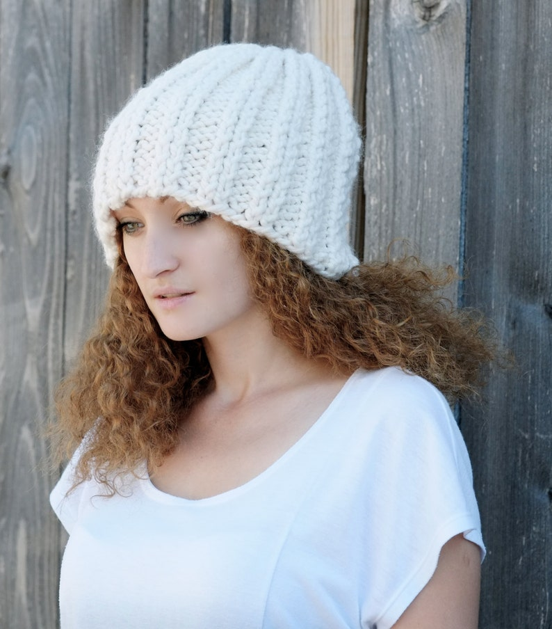 PATTERN Chunky Beanie Hat / Unisex Hipster Knit Hat ...