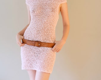 PATTERN For Mini Dress / Summer Crochet Beach Mini Dress  / Pattern Only / Pattern PDF - Instant Download / Detailed Instructions In English