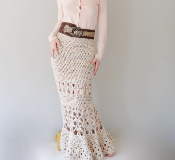 Pattern For Maxi Skirt Crochet Long Skirt Crochet Pattern Etsy