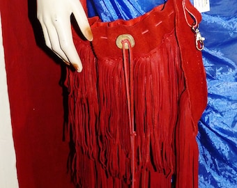 Fringe and more fringe deerkskin leather bag, special key holder, , regalia, hippie purse, woodstock, pow wow,