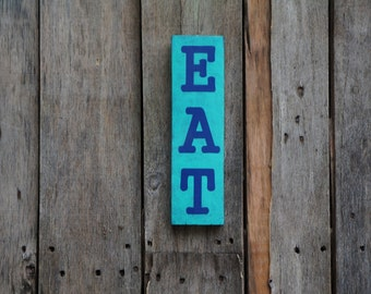 EAT pallet sign, pallet art distressed rustic reclaimed wood pallet decor hand painted sign wooden sign kitchen home decor recycled wood