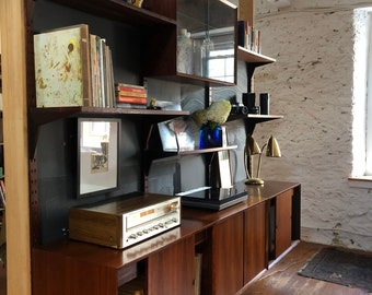 Mid Century Modern Wall Unit Cado Danish Bookshelf