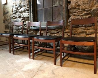 Mid century dining chair mid century dining set danish modern dining chairs & Mid century modern chair | Etsy