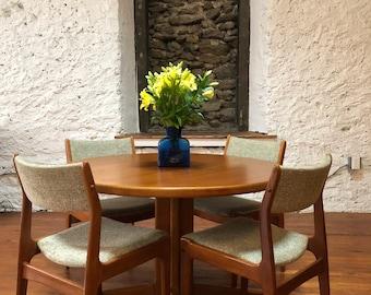Mid Century Dining Table Danish Modern Dining Table Teak Dining Table