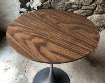 Mid century end table Mid century modern tulip table Knoll tulip table