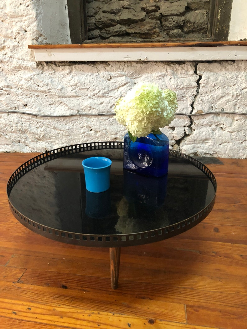 Mid Century Modern Coffee Table Hollywood Regency Coffee Table Marble  Coffee Table
