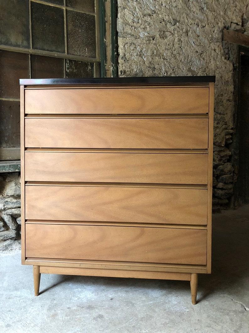 Mid Century Modern Dresser Danish Modern Dresser Mid Century Etsy