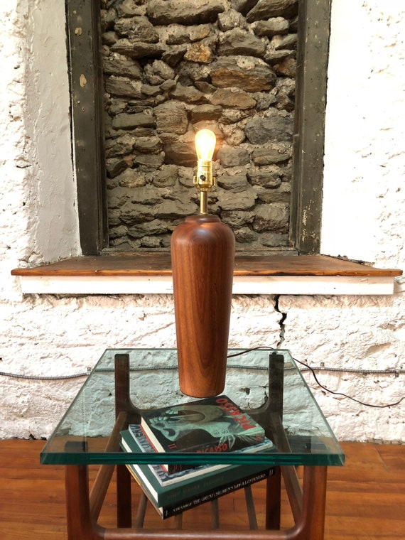 Mid Century Modern Lamp Danish Modern Table Lamp Teak Lamp Etsy