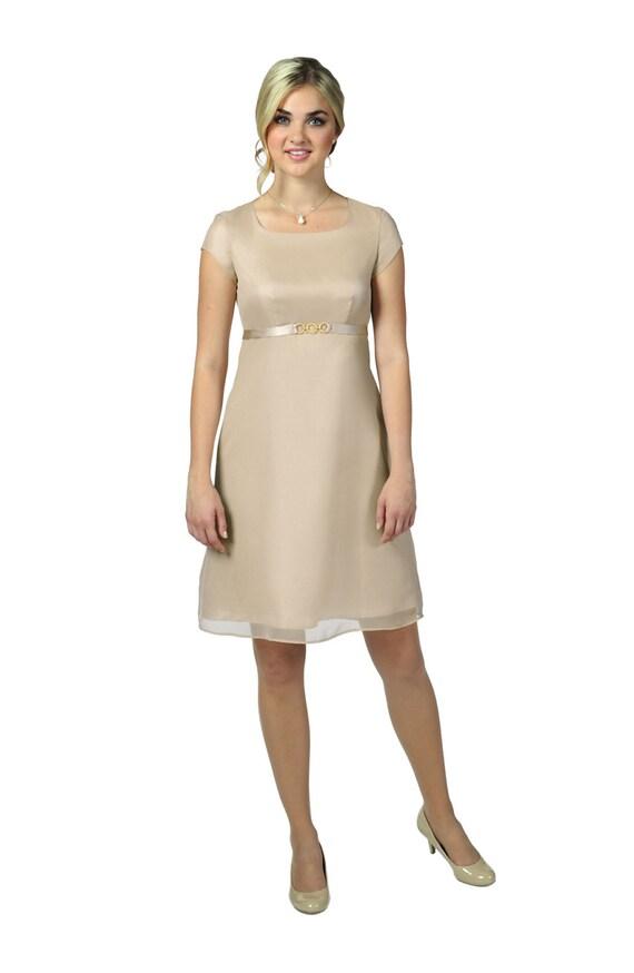 Knee Length Chffon Bridesmaid Dress Style 423D5KCH