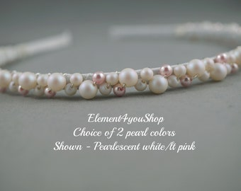Perle Stirnband Haarband Kristalle Hochzeit Haar Accessoire Etsy