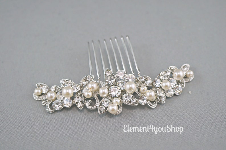 CLARA  Bridal rhinestone comb Wedding hair comb Wedding image 0