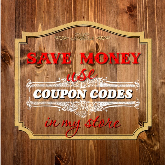 Read Me Coupon Codes Discount How To Use Please Do Not Etsy