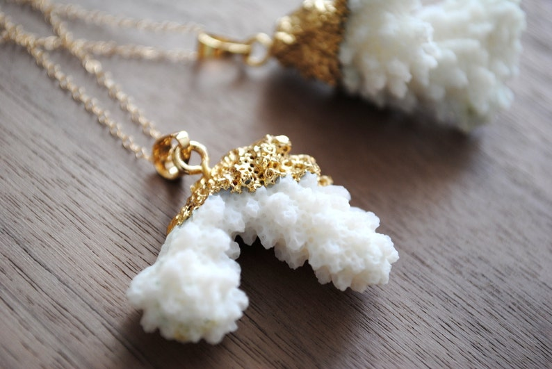 Coral Reef Gold Plated Necklace 24k Gold Plating with image 0