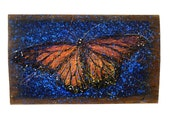 Monarch Butterfly  Painting — Original Art — One of a Kind Artwork Created on Reclaimed Barnwood — Signed by the Artist: Michael Glass
