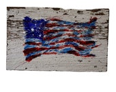 USA Flag — Hand Painted Original Art — One of a Kind Artwork Created on Reclaimed Barnwood — Hand Signed by the Artist: Michael Glass