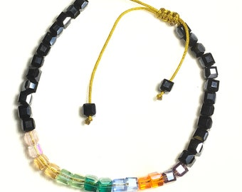 Yoga Bracelet Multi Color Wrap Silver Beads Chakra Yoga Shacra Colors Bangle Cuff Brown Leather Boho Hippie Bracelets for Women Men Girls
