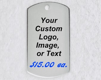 Personalize Medallion 20pcs/Lot Custom Necklace Keepsake All Stainless Steel with Chain